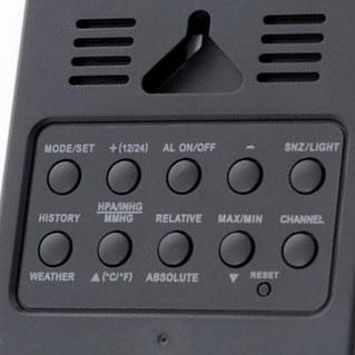 Настройки вашего браузера не позволяют Вам просмотреть фото блока кнопок на тыльной стороне метеостанции Ea2 AL808